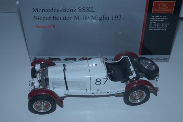 Mercedes-Benz SSKL #87 R. Caracciola Mille Miglia 1931 'Der weiße Elefant' CMC M-055
