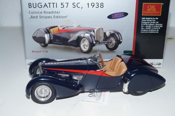 Bugatti 57 SC Corsica Roadster RED STRIPES LE 300 Stück CMC M-135