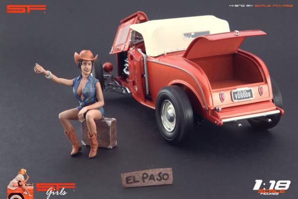1/18 Auto Stop Girl von SF Scale Figures - Handarbeit -