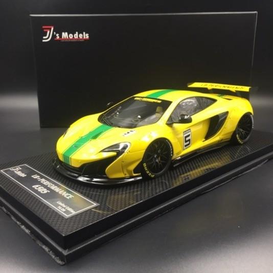 McLaren 650S LB Works #5 gelb mit grünem Streifen J's Models J001YC LE 20