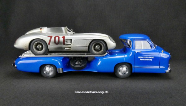 Mercedes-Benz Renntransporter mit 300 SLR #701 Dirty Hero CMC M-163