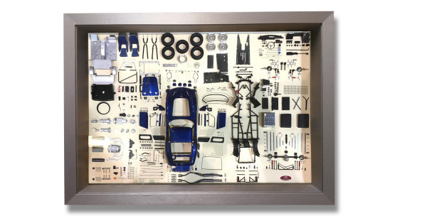 CMC Model Art Ferrari 250 GTO BLUE parts display board CMC A-023, LE 200 Stück