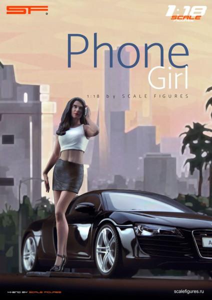 1/18 Phone Girl von SF Scale Figures - Handarbeit -