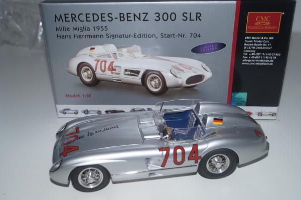 Mercedes-Benz 300SLR #704 Hans Herrmann Signatur Edition CMC M-124