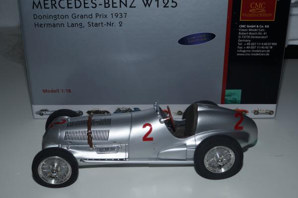 Mercedes-Benz W125 #2 H. Lang Donington 1937 CMC M-114 LE 1.000