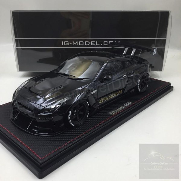 Nissan GT-R PANDEM R35 BLACK Ignition Model IG1005