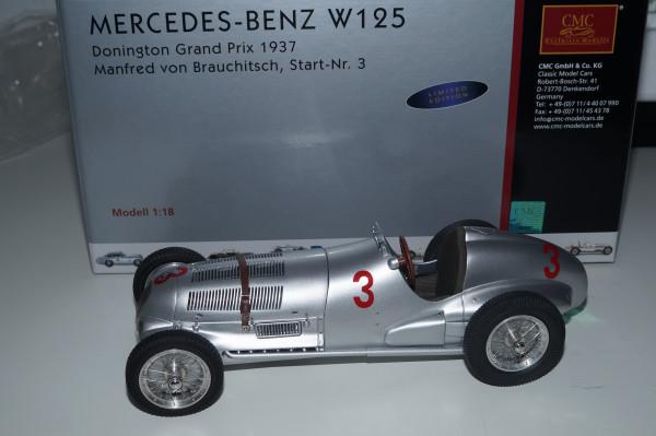 Mercedes-Benz W125 #3 M.v.Brauchitsch Donington 1937 CMC M-115 LE 1.000