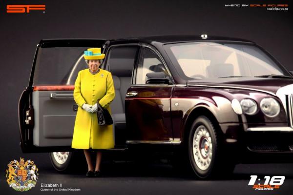 1/18 QUEEN ELISABETH II Yellow Dress von SF Scale Figures - Handarbeit -